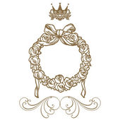 Elegant frame banner with crown Vector illustration.... — Stock Photo