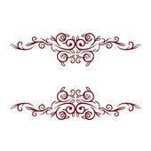 Elegant frame banner, floral elements... — Stock Photo