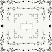 Vector set of decorative horizontal floral elements — Stock Photo