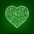Vector ecology concept - heart design element made from icons a — Stock Photo