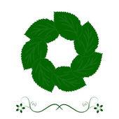 Eco green logo template. Infinite shape. Green leaves loop. Eco — Stock Photo