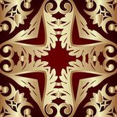 Illustration frame with vegetable gold(en) pattern — Foto de Stock