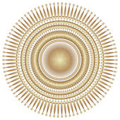 Decorative gold flower with vintage round patterns.. — Stock Photo