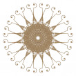 Decorative gold frame with vintage round patterns on white!! — Stock Photo #33117257