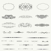 Calligraphic design elements and page decoration.. — Stock Photo
