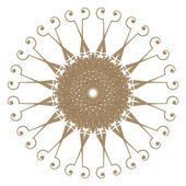 Decorative gold frame with vintage round patterns on white!! — Stock Photo