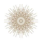 Beyaz vintage yuvarlak desenler ile dekoratif altın çerçeve.. — Stok fotoğraf