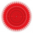 Decorative red frame with vintage round patterns on white — Stock Photo #33179239