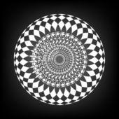 Black and white circular border vector illustration — Stock Photo