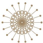 Marco decorativo de oro con los patrones redondos vintage en blanco.... — Foto de Stock