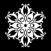 Vector flowers patterns on a black background!! — Stock Photo