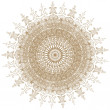 Decorative gold and frame with vintage round patterns on white. — Stock Photo