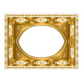 Picture gold frame with beautiful carving. — Stock Photo