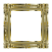 Picture gold frame with beautiful carving — Stock Photo