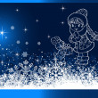 Stock Photo: Christmas Background. Abstract Vector Illustration. Eps10.