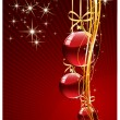 Elegant Merry Cristmas and Happy New Year background with baubl — Stock Photo