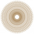 Stock Photo: Decorative gold flower with vintage round patterns.