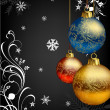 Christmas bokeh background with baubles. — Stock Photo