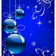 Christmas bokeh background with baubles — Stock Photo