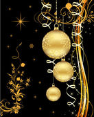 Christmas bokeh background with baubles.. — Stock Photo