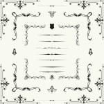 Vector set of decorative horizontal floral element — Stock Photo