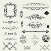 Calligraphic design elements and page decoration — Stock Photo