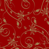Wallpaper with floral ornament — Stock Photo