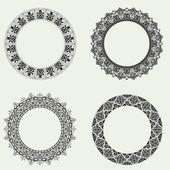 装飾的な水平方向の要素、罫線、フレームのベクトルを設定 — ストック写真