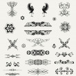 Vintage ornaments and dividers, calligraphic design elements an — Stock Photo #35712509