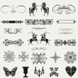 Vintage ornaments and dividers, calligraphic design elements an — Stock Photo #35712551