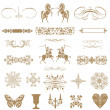 Vintage ornaments and dividers, calligraphic design elements an — Stock Photo #35712573