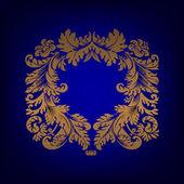 Striscione elegante telaio, elementi floreali — Foto Stock