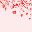 Stock Photo: Floral greeting card ,abstract, background..
