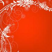 Carte de voeux floral, abstraite, arrière-plan. — Photo