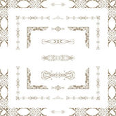 Vector set of decorative floral elements, corners, borders, f — Stock Photo