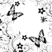 Background with butterfly on a white background..... — Foto Stock