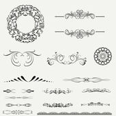 Calligraphic design elements and page decoration.. — Stock Vector