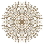 Decorative gold and frame — Stock Vector