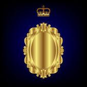 Elegant royal frame with crown... — Stock Vector