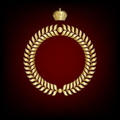 Elegant royal frame with crown.. — Stock Vector