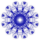 Decorative blue flower — Vector de stock