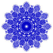 Decorative blue flower — 图库矢量图片