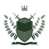 Retro grunge heraldic shield — Stock Vector