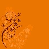 Pozvání nebo svatební přání s květinovými — Stock vektor