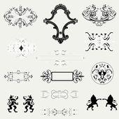 Elementos de design de caligrafia e decoração de página — Vetor de Stock