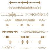 Kaligrafické návrhové prvky a stránky dekorace — Stock vektor