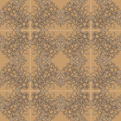 Vector damask seamless pattern background. — Stock Photo