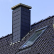 Close up chimney on the roof — Stock Photo #48762445