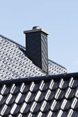 Close up chimney on the roof. — Stock Photo