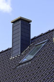 Close up chimney on the roof — Stock Photo